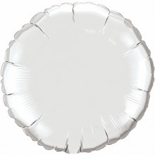 Foil balloon - silver 10 cm