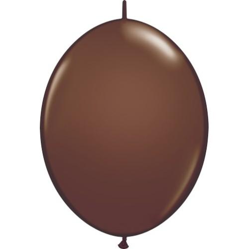 Balon Quick Link - čokoladno rjav 15 cm