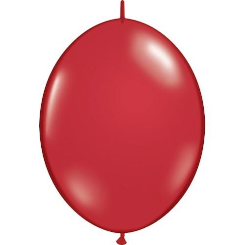 Balon Quick Link - rubinasto rdeč 15 cm