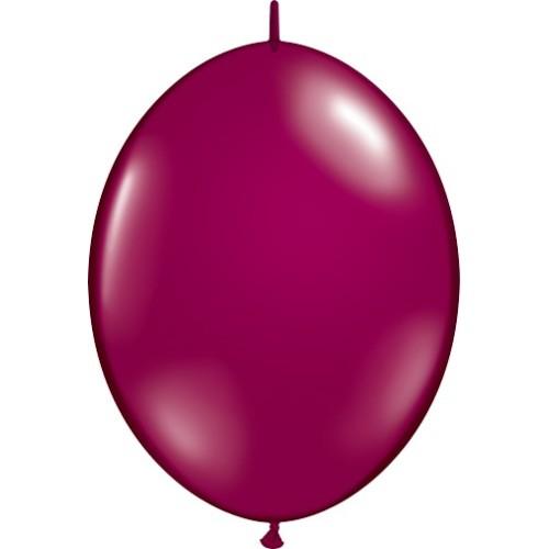 "Balloon Quick Link - sparkling burgundy 6"""