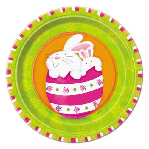 """Bunny pals plates 7"""""""