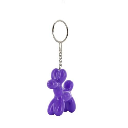 Purple dog keychain