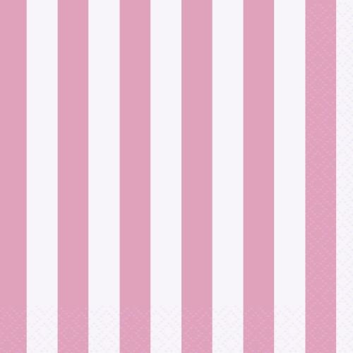Male svetlo pink serviete s črtami