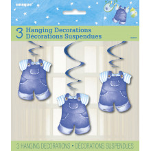 Baby clothes blue hanging decoration