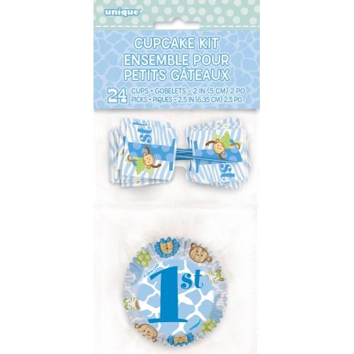 Blue Safari cupcake kit