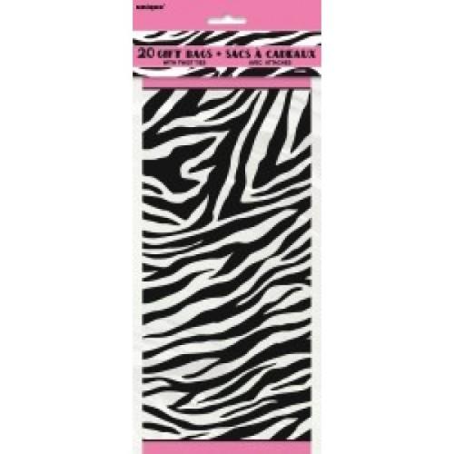 Zebra party celofan darilne vrečke