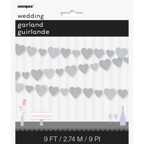 Silver heart garland