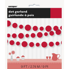 Red dots garland