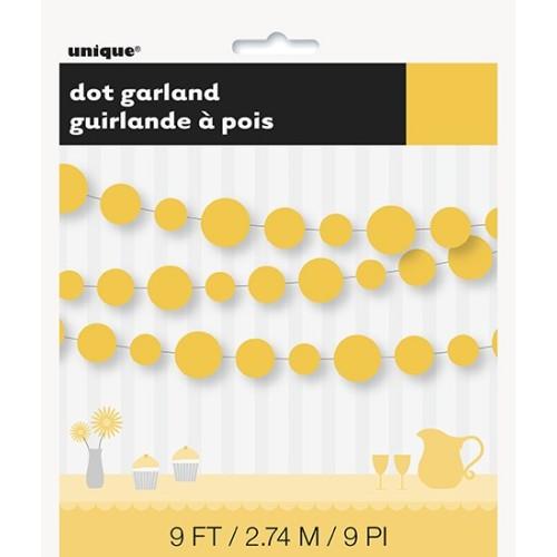 Punkten Girlande - gelb