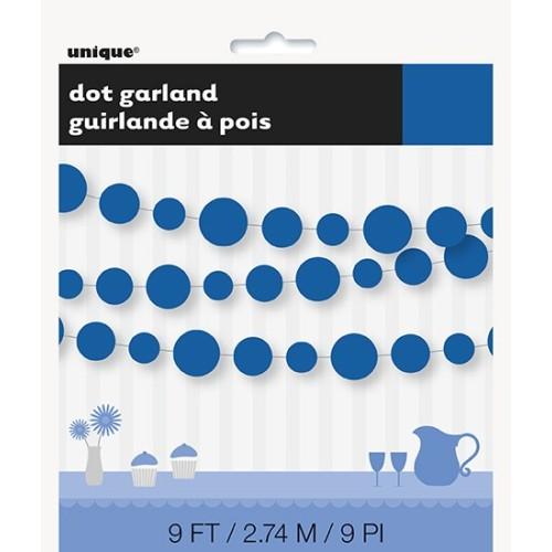 Royal blue dots garland