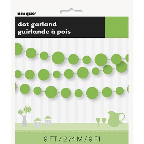 Lime green dots garland