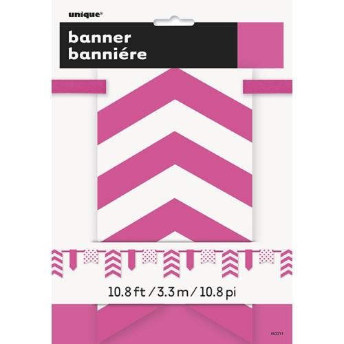 Živahno pink banner s pikami in črtami