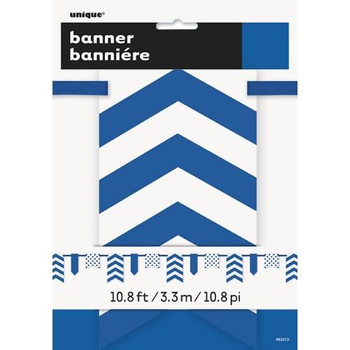 Royal blue pennant banner