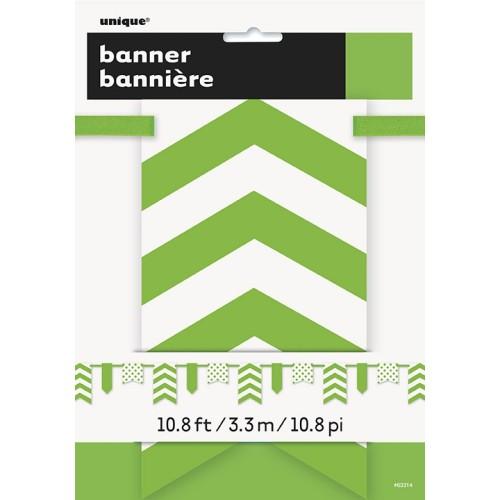 Svetlo zelen banner s pikami in črtami