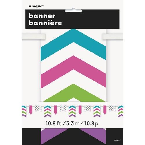 Bright pennant banner