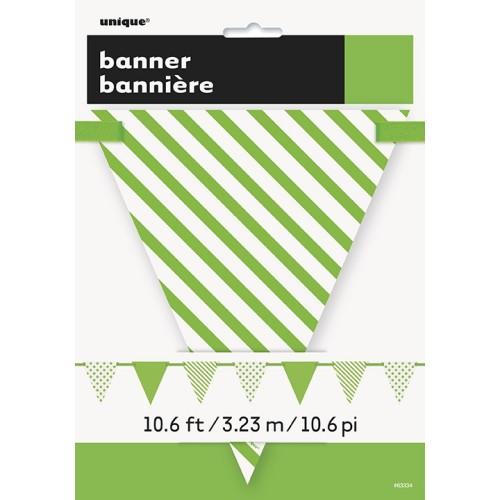 Svetlo zelene zastavice s pikami in črtami