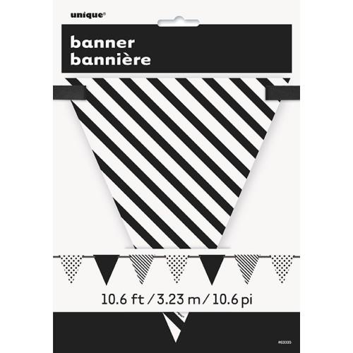 Črne zastavice s pikami in črtami