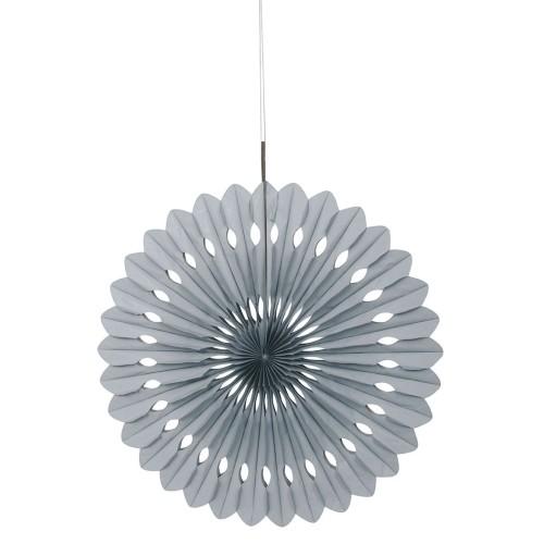 Decorative silver fan
