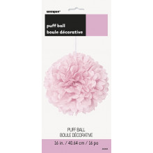 Lovely pink puff ball decoration