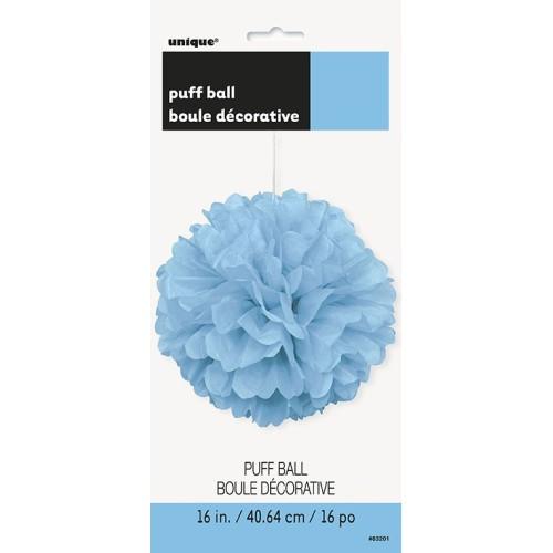 Powder blue puff ball decoration