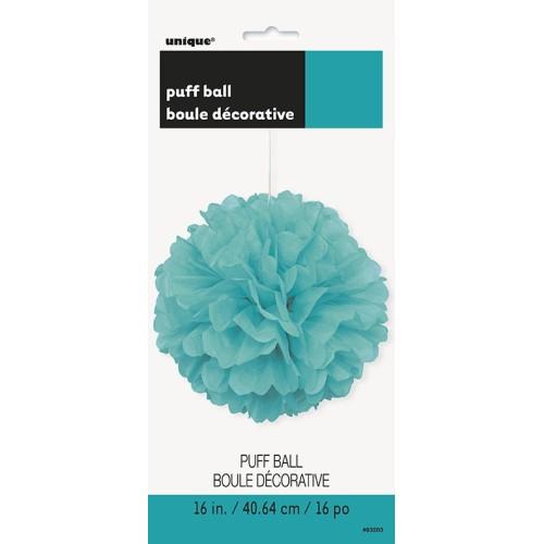 Caribbean teal puff ball decoration
