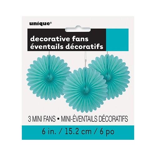 Decorative caribbean teal mini fan