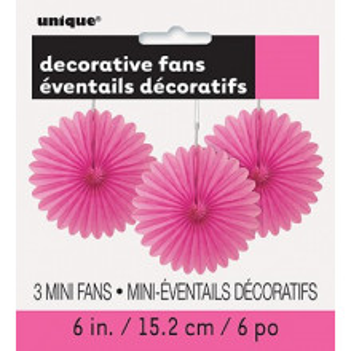 Decorative hot pink mini fan