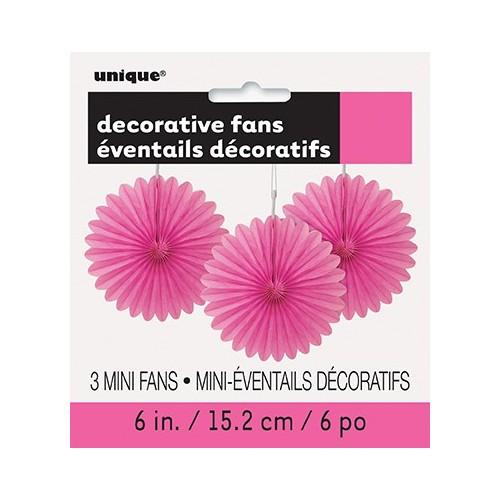 Živahno pink mala dekorativna pahljača