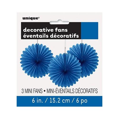 Decorative royal blue mini fan