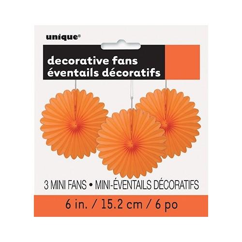 Decorative pumpkin orange mini fan