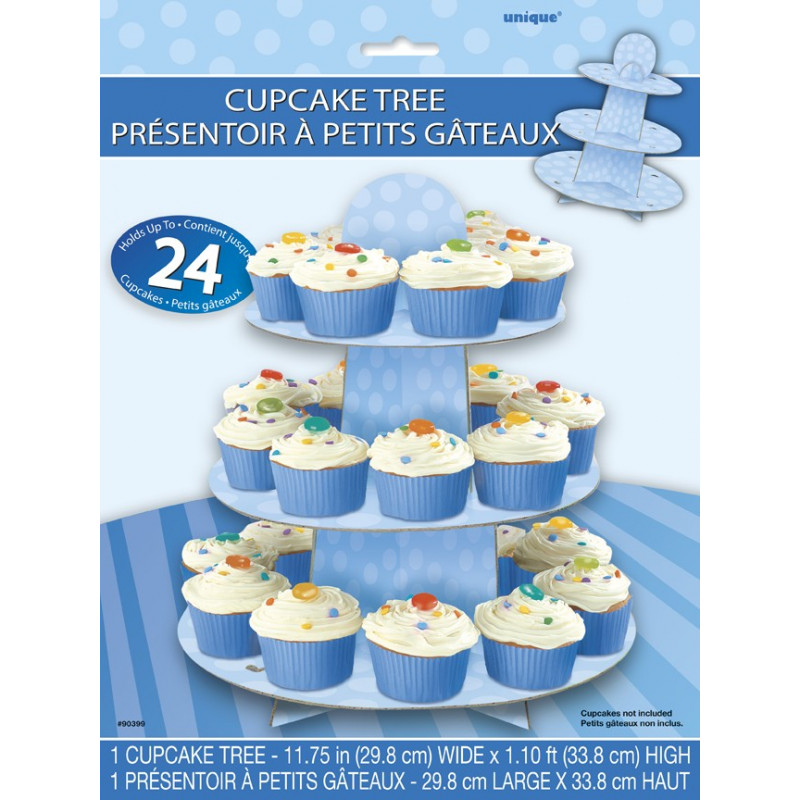 Baby blue cupcake stand