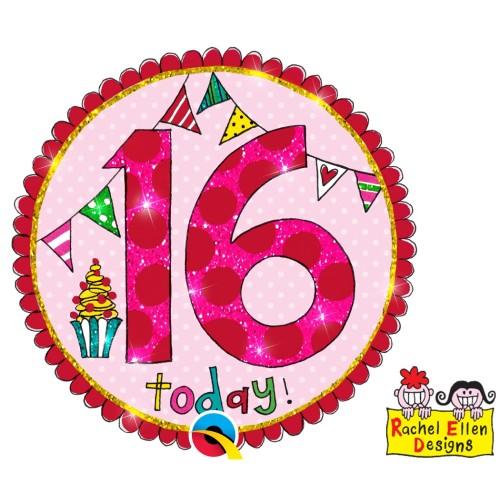 Rachel Ellen 16 pink badge