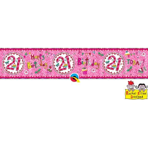Rachel Ellen 21 pink banner