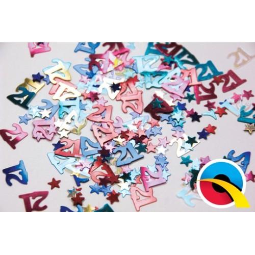Multi-Coloured 21 Confetti