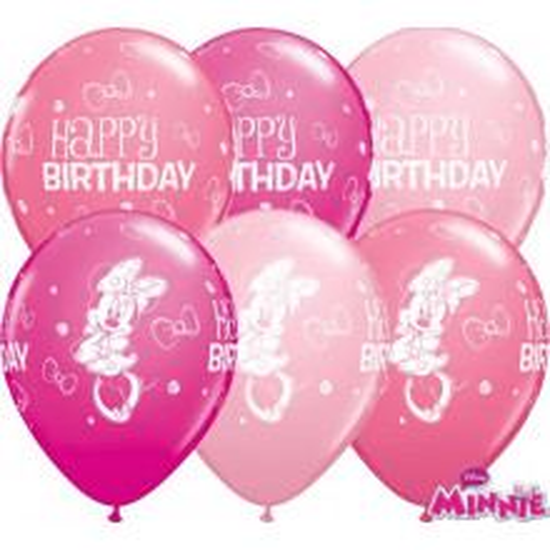 Balon od lateksa 28 cm - Minnie Mouse Bday