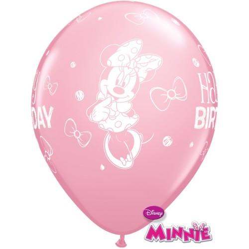 Lateks Balon 28 cm - Minnie Mouse Bday