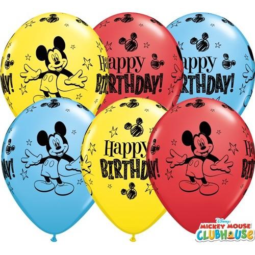 Lateks Balon 28 cm - Mickey Mouse Bday