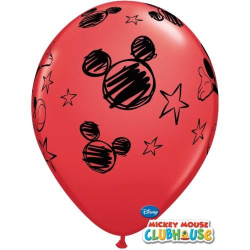 Lateks Balon 28 cm - Mickey Mouse