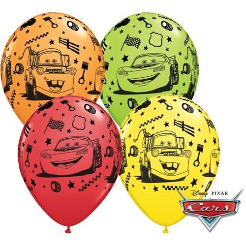 Balon od lateksa 28 cm - Lightning Mcqueen & Mater
