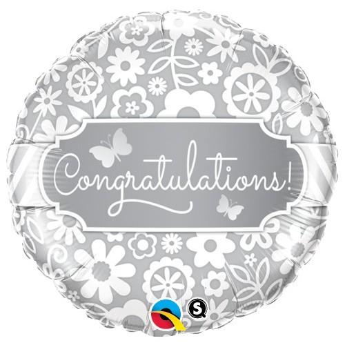 Congratulations Butterflies - folija balon