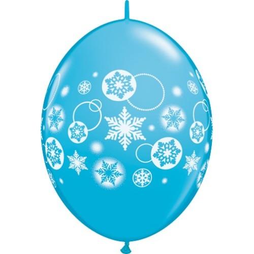 "Balloon Quick Link - snowflakes & circles 12"""