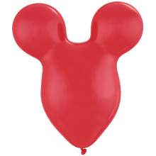 Balloon Mousehead - ruby red