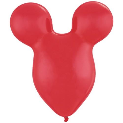 Balon Mousehead - rubinasto rdeč