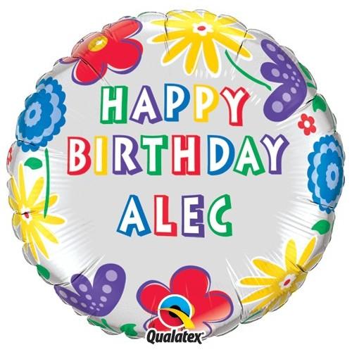 Birthday Flowers - foil balloon