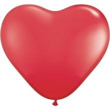 Balon srce 15 cm - rdeč