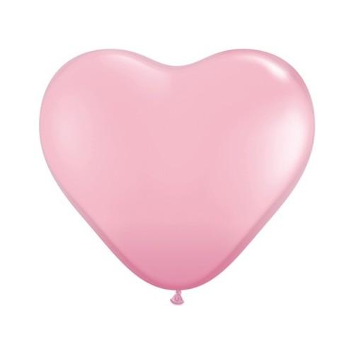 """Balloon heart 6"""" - pink"""