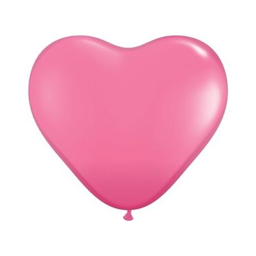 """Balloon heart 6"""" - rose"""