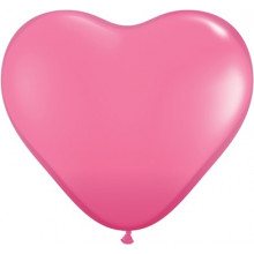 Balon srce 15 cm - temno roza