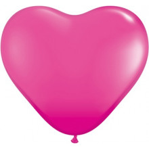 """Balloon heart 6"""" - wild berry"""