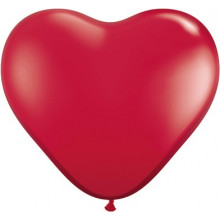 """Balloon heart 6"""" - ruby red"""
